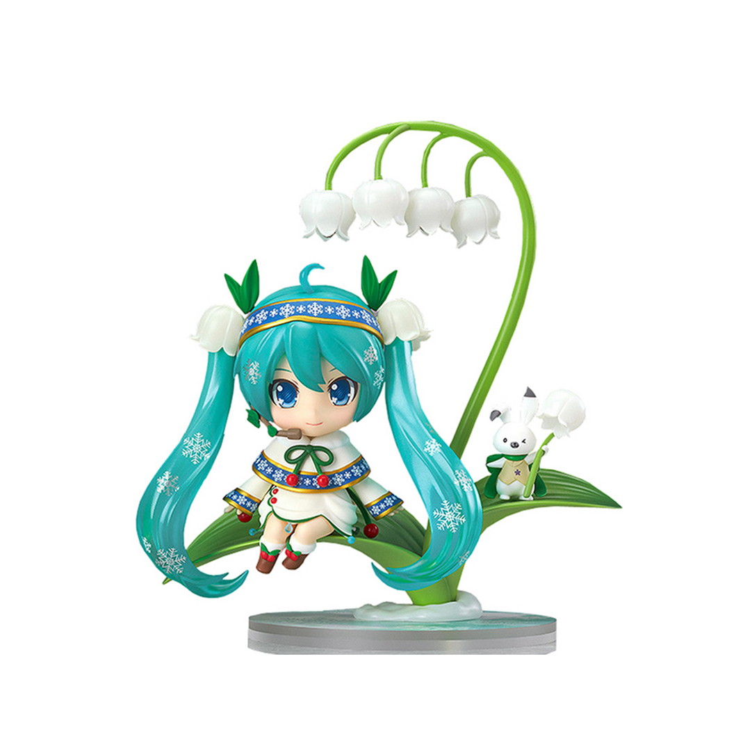Chanycore GSC Nendoroid #493 SNOW BELL ver Hatsune Lotus leaf Miku Sakura PVC Action Figure Collection Model Toy 10cm 4