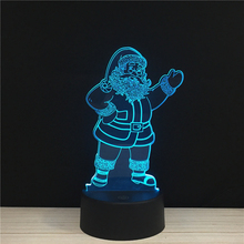 Mylamp Merry Christmas Santa Claus LED 3D NightLight Acrylic Night Lamp Light X-mas Touch And Remote Lamps Lights Kids Gifts GiC