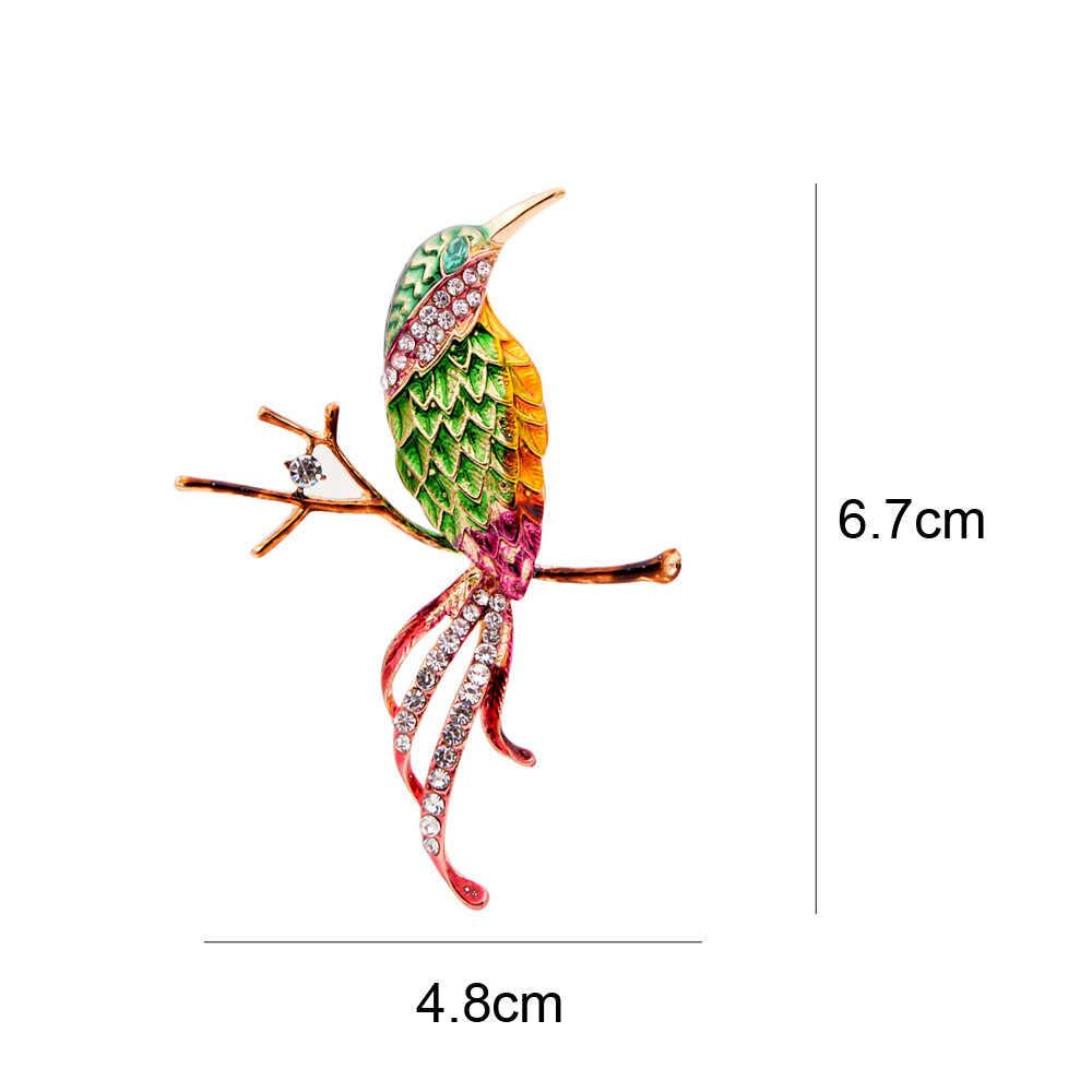 Cindy Xiang Baru Musim Semi Burung Bros untuk Wanita Fashion Cute Enamel Hewan Perhiasan Musim Semi Warna Campuran Aksesoris Bros Pin Hadiah