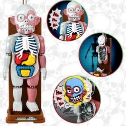 Novedad regalos divertidos juguetes de mordaza simulación humana de miedo juguete de Navidad Fiesta organos ensamblado rompecabezas 3D juegos de familia de broma tramposa