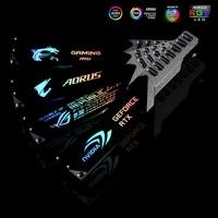 Aluminum Alloy Graphics Card Support GPU Holder Bracket 5V 3PIN ARGB/RGB VGA Frame NVIDIA ROG ASUS Gigabyte AURA SYNC Symphony