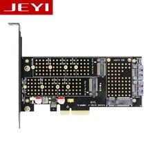 Jeyi SK16 M.2 NVME SSD NGFF к PCI-E3.0 X4 адаптер M ключ B Ключ mSATA интерфейс Поддерживаемые карты PCI Express 3.0 3 в 1 двойной 12 В + 3.3 В
