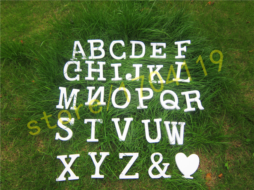 Standing 10cm Artificial Wood wooden white Letters for <font><b>decorations</b></font> Wedding <font><b>Decorations</b></font> <font><b>Home</b></font> <font><b>Decorations</b></font> Brithday letter