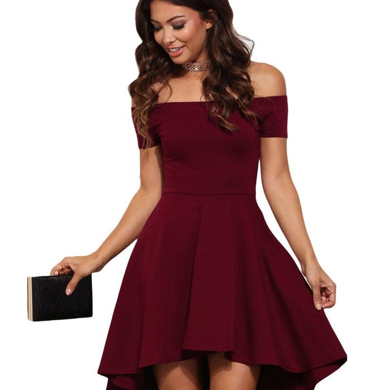 398e2f8130d8594 С открытыми плечами летнее платье женское свадебное коктейльное сексуальное  ночной клуб Blackless ТРАПЕЦИЕВИДНОЕ черное платье короткое