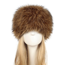 Anself 2018 New Fake Fur Russian Hat Women Long Faux Rabbit Fur Winter Snow Hat Full Fur Cap Warm Thick Russia Beret Beanies(China)