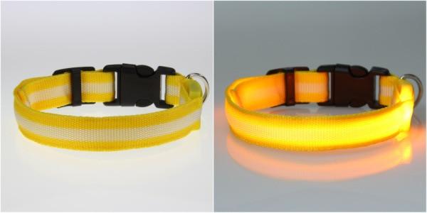 8 Warna S M L Ukuran Cahaya LED Dog Pet Cat Flashing Light Up Nylon - Produk hewan peliharaan - Foto 6