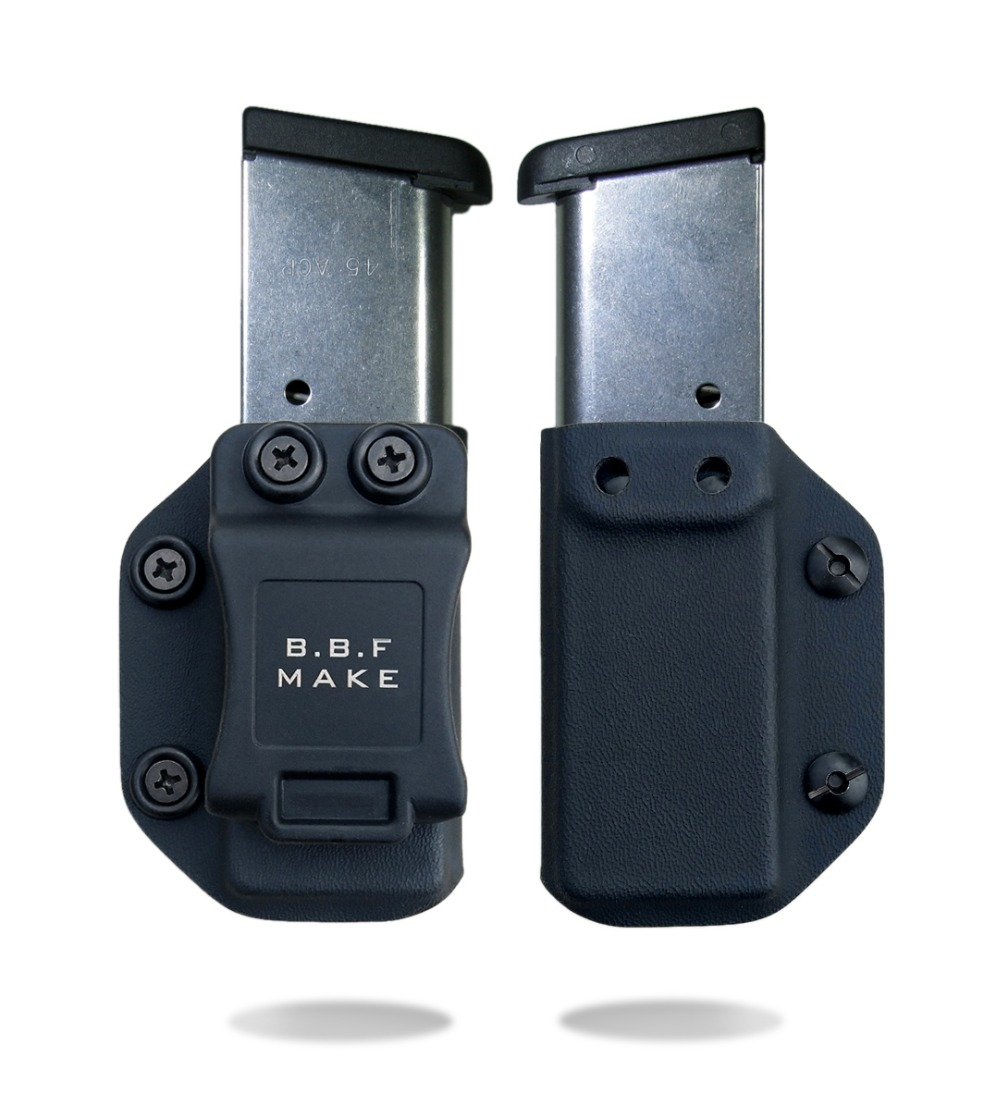 B.B.F Make IWB/OWB Holster KYDEX Magazine Case Fits: Taurus PT1911 HandGun Magazine Pouch For Inside or Outside Carry