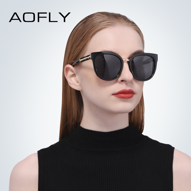 AOFLY BRAND DESIGN Hand Made Luxury Cat Eye Sun glasses For Women Polarized Sunglasses Goggles UV400 A138 1