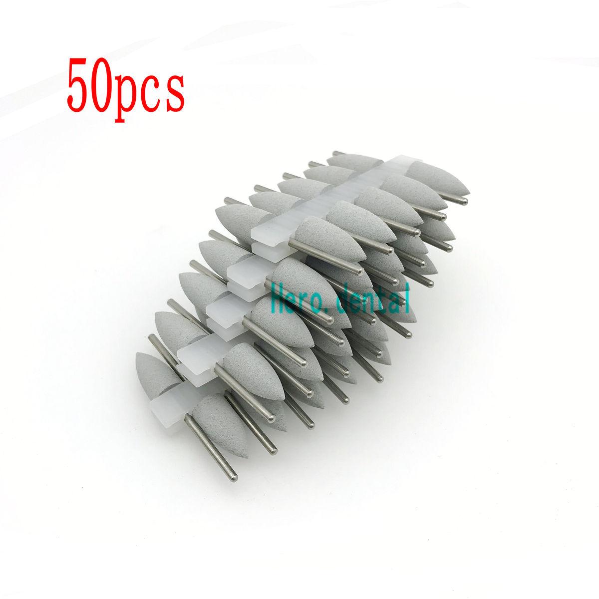 50 Pcs Grey Dental SILICONE Rubber Polishers dental Polishing Burs 2 35mm Shank in Teeth Whitening from Beauty Health