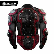 High Quality Black Mix Red Upgrade Motocross Armor Motorcycle Racing Full Protector Gears Armor Jacket Brand Scoyco AM02-2
