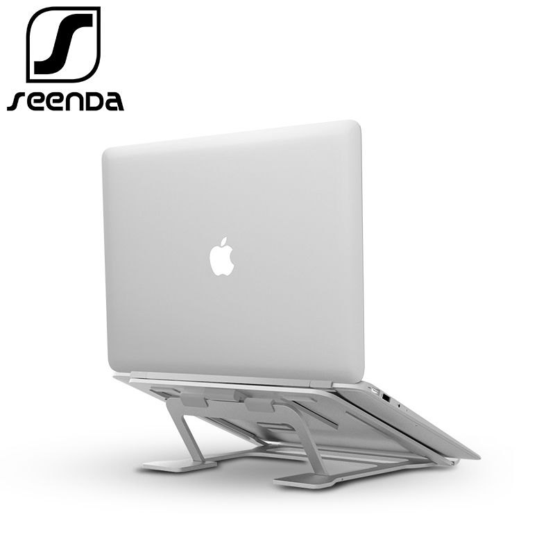 SeenDa Universal Foldable Laptop Stand for Notebook MacBook Aluminium Support Cooling Stands for Dell Portable Thinkpad Holders