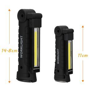 Image 5 - Draagbare 5 Modus Cob Zaklamp Fakkel Usb Oplaadbare Led Verlichting Magnetische Cob Lanterna Opknoping Haak Lamp Voor Outdoor Camping