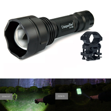 UniqueFire Cree XML Led Flashlight 1505-XML Zoomable Flashlight With 1200LM, 5 Modes White Light Lamp Torch+Scope Mount