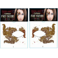 1pair Gold Flash Beauty temporary tattoo sticker Henna Club Face eye shadow stickers Fancy Party eye mask Makeup Body art Taty