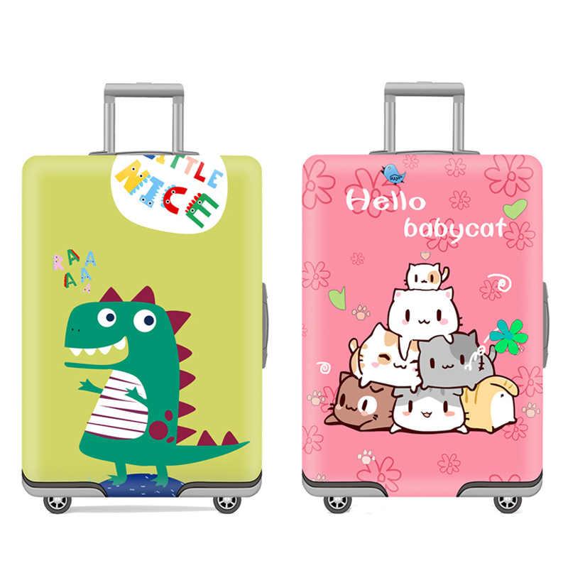 Мультфильм животных чемодан для путешествий Крышка 18-32 дюймов тележка Эластичный Защитный чехол Чехлы пыленепроницаемый багажный багажник крышка
