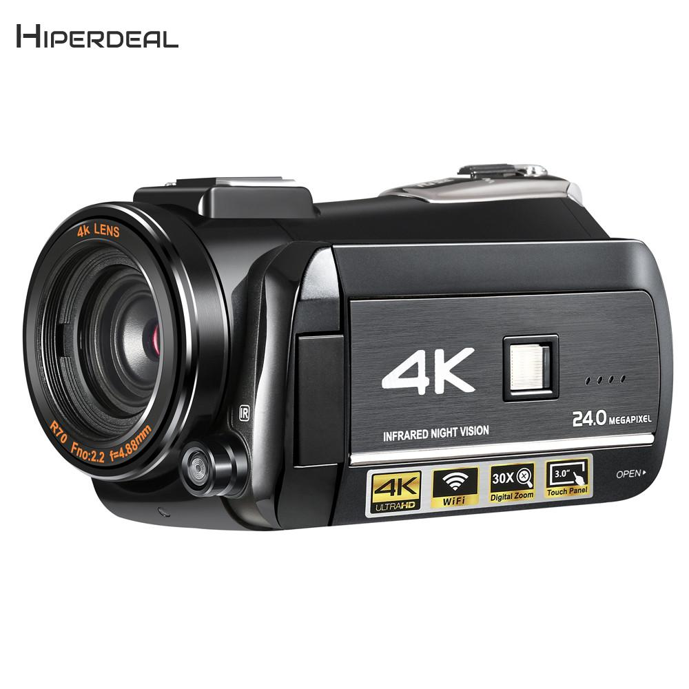 HIPERDEAL ORDRO AC3 4 k Ultra FHD 60FPS Caméra Vidéo Wifi Vidéo Caméscope APPLICATION MICRO 1080 p Standard Numérique Professionnel caméra