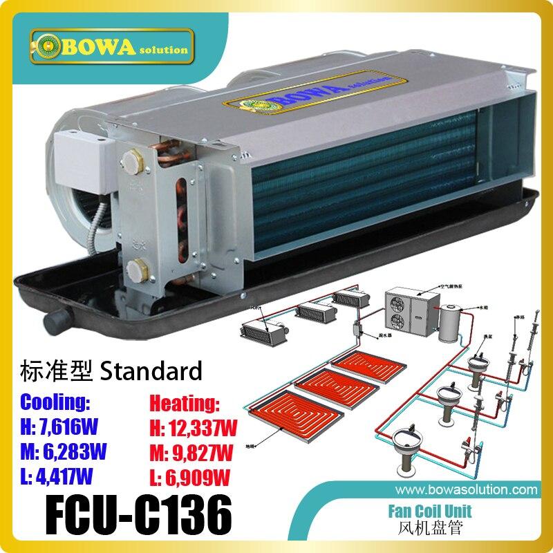 Dissimulé ventilo-convecteur horizontale au RÉGULATEUR de) est contrôlée soit par un manuel sur/off ou par un thermostat dans les climatiseurs