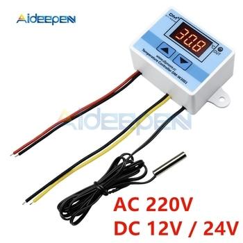 10A 12V 24V 220V LED Digital Temperature Controller W3001 Thermometer Thermo Controller Regulator Switch Probe NTC Sensor 10K