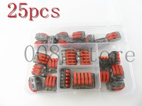 25pcs Combo Transparent Cable Connector Universal Compact Wire Connector Terminal Block