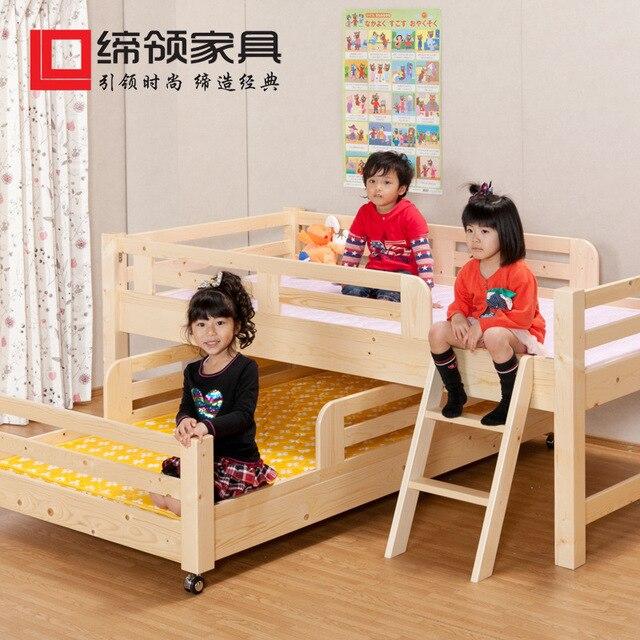 Fábrica directa japonés de madera de pino literas niños un metro ...