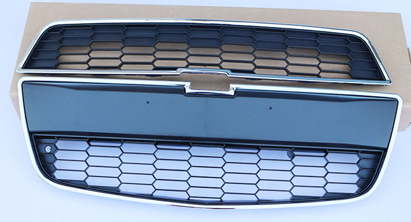 For Chevy Aveo Sonic 2011-2013 2PCS Original version Front Grill Grille Upper+Lower бита makita рh2 25 мм 10 шт