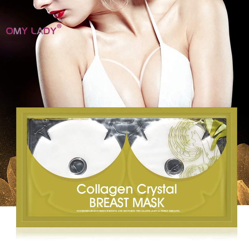 Omylady Crystal Collagen Breast Enlargement Mask Chest Plump Enhancer Pad Body Beauty Shaping Bust Firming Lifting Cream Patch
