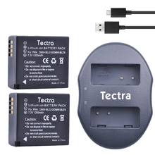 Tectra 2 pcs DMW-BLG10 Bateria DMW-BLE9 BP-DC15 BPDC15 + USB Dual Carregador para Panasonic LUMIX GF5 GF6 GX7 LX100 GX80