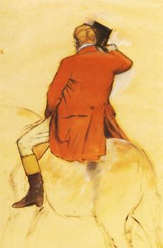 High quality Oil painting Canvas Reproductions Rider in a Red Coat (1868)  By Edgar Degas hand painted
