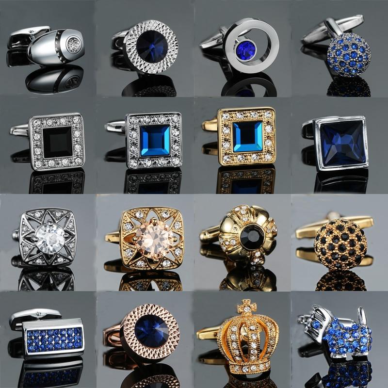 NOVELTY SILVER BLUE BEST MAN WEDDING MENS DRESS CUFF LINKS CUFFLINKS #1005