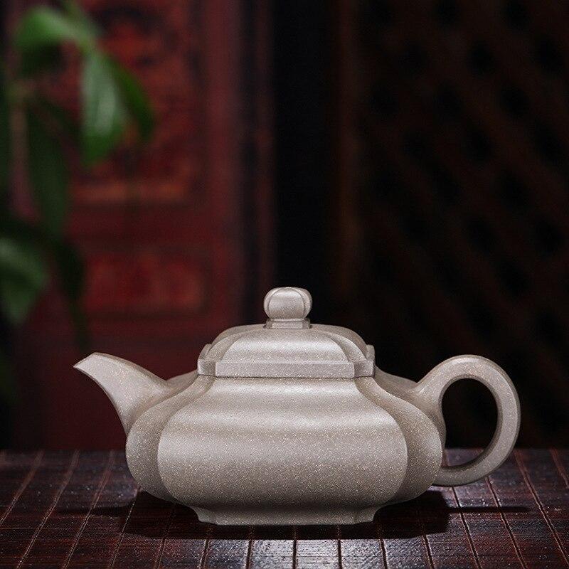 purple sand pot Sifang pumping corner pot Mingjiayuan mine lime mud pure manual large-capacity wholesale tea sets