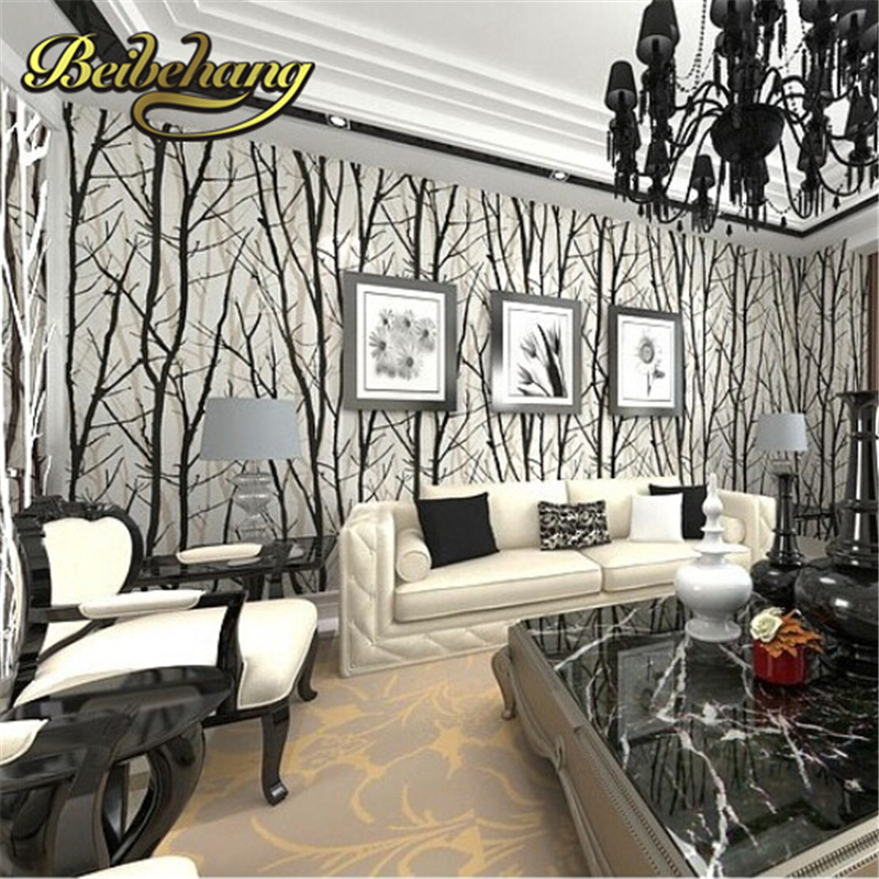 beibehang papel de parede. Tree Branches Wallpaper Roll 3D Modern vinyl Wall Paper for Living Room TV Background Home Decor beibehang modern simple wide stripe wallpaper for living room bedroom tv background home decor wall paper papel de parede 3d