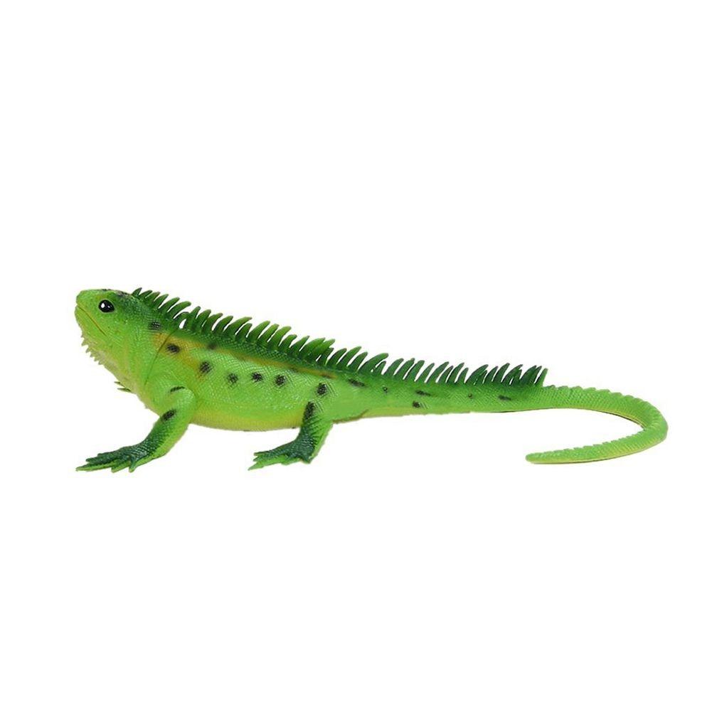 Vivid Reptile Animal PVC Lizard Model Figure Educational Toy - Green