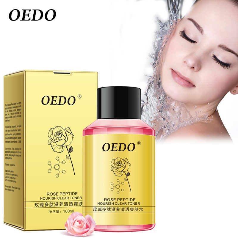 OEDO Rose Peptide Nourish Clear Toner Skin Care Whitening Moisturizing Acne Treatment Black Head Anti Wrinkle Ageless Beauty beauty salons with aromatherapy essential oils rose toner 1000g whitening toner