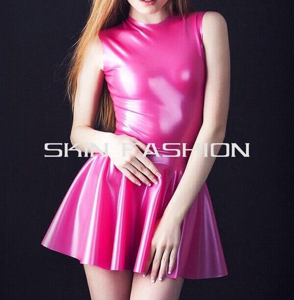 91a779ea3c51c0 Gratis verzending! vrouwen metallic roze rubber mode latex jurk in Gratis  verzending! vrouwen metallic roze rubber mode latex jurk van Nachtjapon &  Pyama op ...