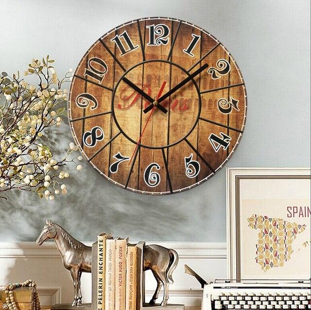 perfect radio contrle bois horloges murales dcf antique rtro regarder ancienne horloges murales. Black Bedroom Furniture Sets. Home Design Ideas