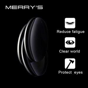 Image 3 - MERRYS Anti mavi işık serisi 1.56 1.61 1.67 reçete CR 39 reçine asferik gözlük lensler miyopi hipermetrop presbiyopi Lens