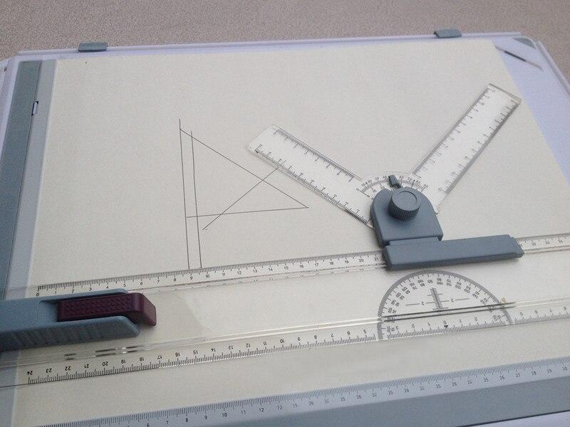 Школьные принадлежности, новинка, А3, доска для рисования, стол с линейкой параллельного движения, транспортир и регулируемый угол, чертеж, художественная живопись