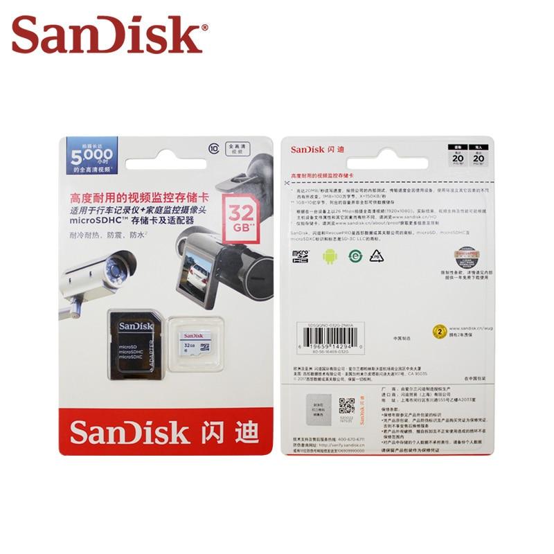 Original SanDisk High Endurance Video Monitoring MicroSD Card Class 10 32G 64G TF Card Memory Card Car DVR Micro SD Card