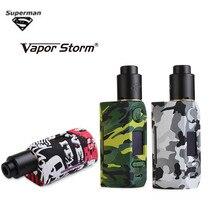Vapor Storm Storm230 Bypass 200W VW TC Box Mod and Flamingo RDA kit LED display Electronic Cigarette Vapes Dual 18650 Battery