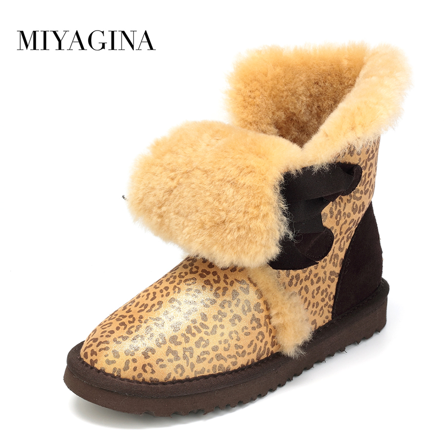 Top Quality New Fashion Women Snow Boots Genuine Sheepskin Leather Winter Boots 100% Natural Fur Warm Wool Women Boots top quality 2018 new fashion women 100