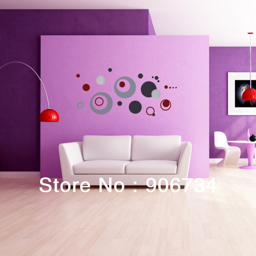 Home Decoration Crafts DIY Colorful Circle Removable Wall Stickerr Vinyl Decal Art Mural