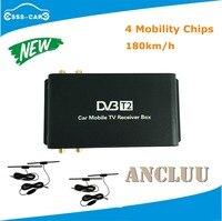 4 Телевизионные антенны H.265 автомобиль DVB T2 мобильный цифровой ТВ Box Внешний USB DVB T2 автомобиля ТВ приемник для Германии Европа Юго Восточной а