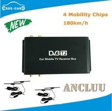 4 Телевизионные антенны H.265 автомобиль DVB T2 мобильный цифровой ТВ Box Внешний USB DVB-T2 автомобиля ТВ приемник для Германии Европа Юго-Восточной азии
