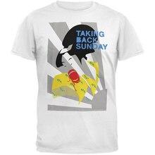 купить Fitted T Shirts Short O-Neck Fashion 2018 Mens Taking Back Sunday - Mad Geisha Soft Tee Shirts по цене 774.41 рублей