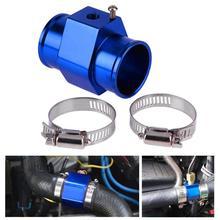 VODOOL 1 шт. синий 8 размер температура воды датчик температуры Соединительный трубчатый радиатор шланг адаптер с 2 зажимами высокого качества