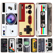 Vintage Tape Camera Gameboy Phone Case For Coque Samsung J3 J5 J7 2016 2017 J4 J6 Plus 2018 Note 8 9 10 Pro Cover Beer Cases(China)