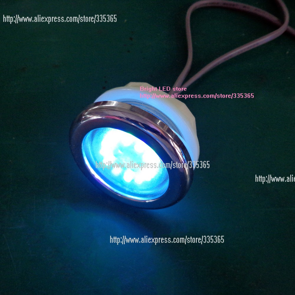 Perfect Sets Of 5pcs 1.0W Waterproof RGB Colorful Recessed Under Water Spa Pool Led  Light With 5pcs Light Controller 5pcs 12v Adapter