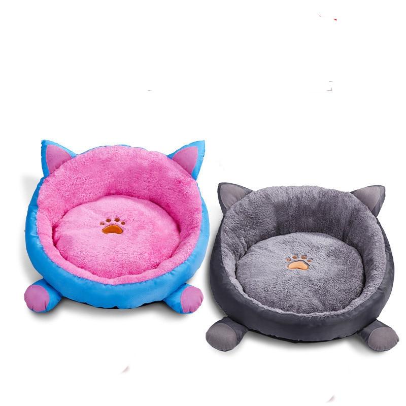 2018 New Pet Cat Dog Winter Cushion Beds Round Warm Mats Nests Ears Shape House Beds #ne1107 Home & Garden