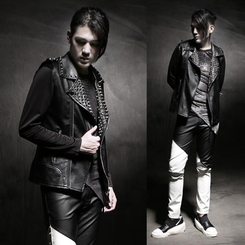 Rivet Vêtements Manteau Chanteur Mode Gd Costumes Gilet 2018 Noir Hommes Personnalité Dj En Cheveux Nouveau De Cuir Styliste pSqMUzVG
