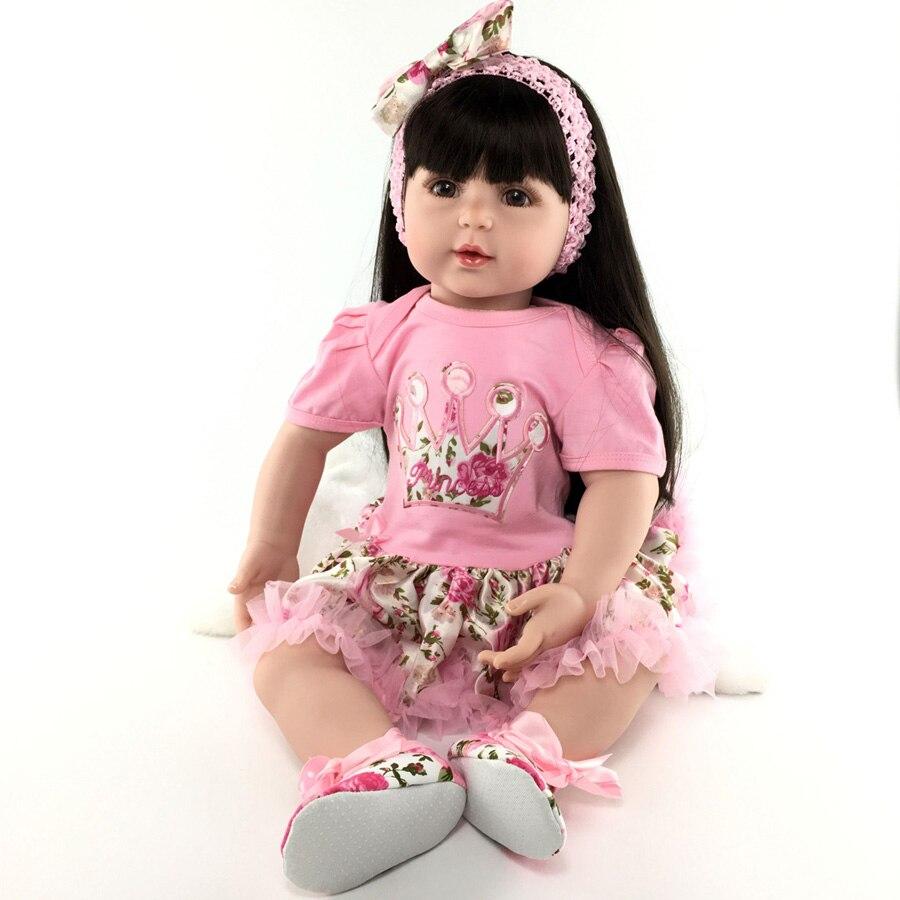 55 cm Silicone reborn bébé poupée maison de jeu princesse poupée réaliste d'anniversaire cadeaux présent poupées de collection coucher vinyle poupée jouet